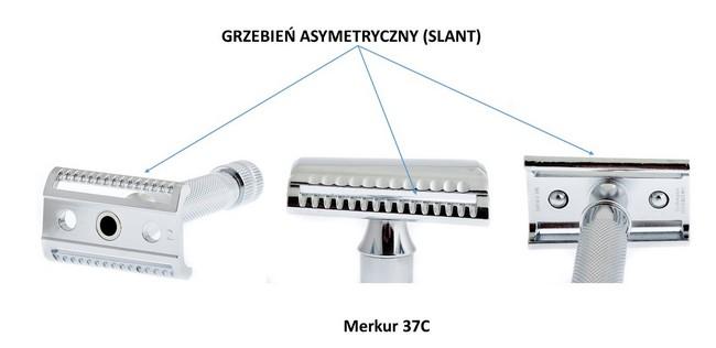 Głowica asymetryczna typu slant