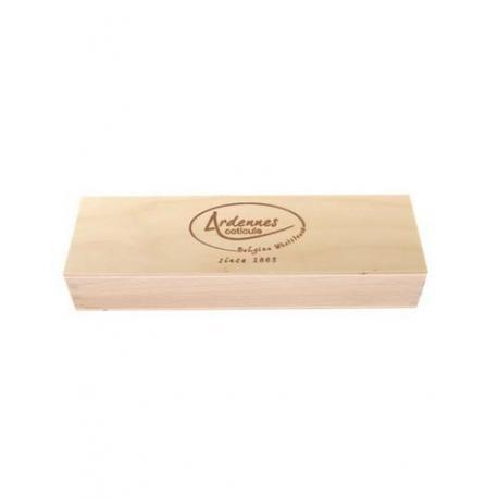 Drewniane pudełko na kamień do ostrzenia brzytew, 200x50