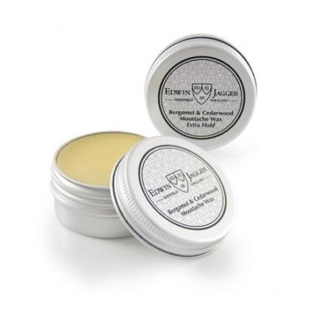 Edwin Jagger MWBCEH wosk do wąsów w tygielku bergamotka i cedr ekstra utrwalenie 15 ml