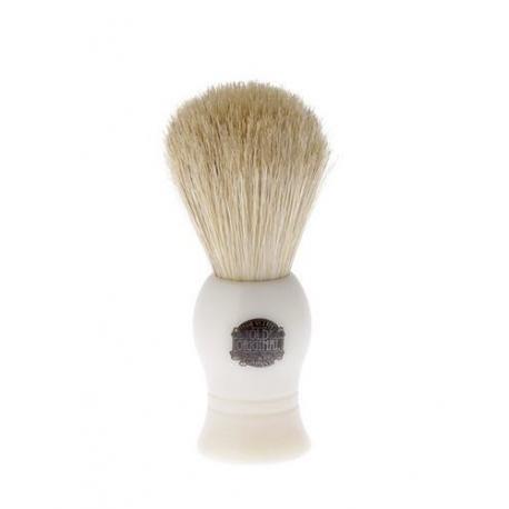Pędzel do golenia VULFIX VS1, naturalna szczecina, uchwyt kremowy