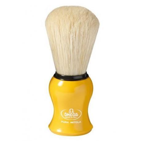 Pędzel do golenia Omega 10065YE, naturalna szczecina, żółty