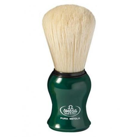 Pędzel do golenia Omega 10065GR, naturalna szczecina, zielony