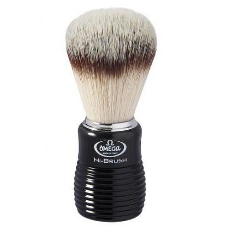 Pędzel do golenia Omega 0146081, syntetyk HI-BRUSH, czarny