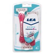 LEA WOMEN PREMIUM 3 maszynka do golenia dla kobiet 3 ostrza 4 sztuki