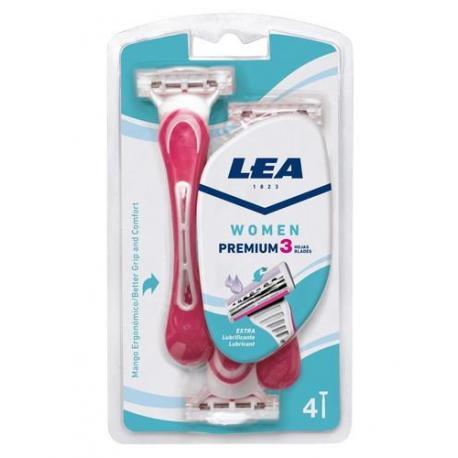 LEA WOMEN PREMIUM maszynka do golenia dla kobiet 3 ostrzowa 4 sztuki