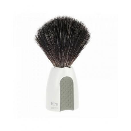 Pędzel do golenia HJM 21P8WGR, syntetyk BLACK FIBRES, uchwyt biały i szary