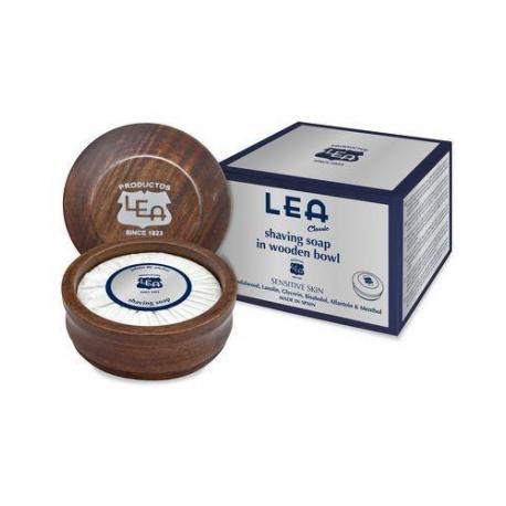 LEA Classic luksusowe mydło do golenia w drewnianym tyglu 100g