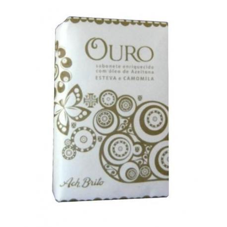 ACH BRITO LUSTIANO OURO mydło roślinne: rumianek, czystek, cedr i trawa wetiwer 75g