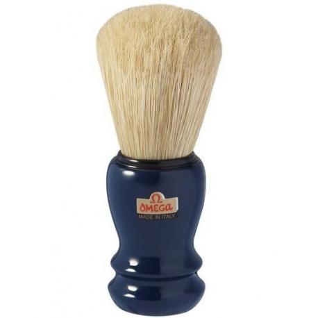 Pędzel do golenia Omega 10108 PROF, naturalna szczecina, granatowy