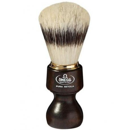 Pędzel do golenia Omega 11126, naturalna szczecina, OVANGKOL