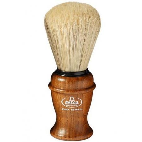 Pędzel do golenia Omega 11137, naturalna szczecina, jesion