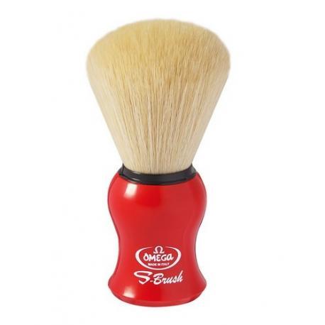 Pędzel do golenia Omega S10065RE, syntetyk S-Brush, czerwony