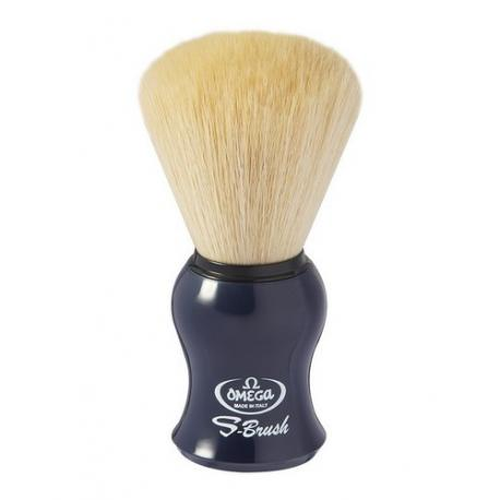 Pędzel do golenia Omega S10065DB, syntetyk S-Brush, granat