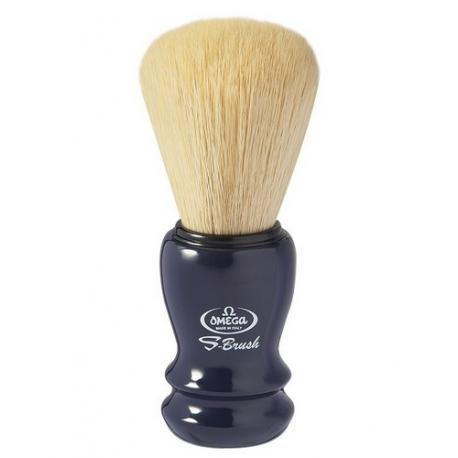 Pędzel do golenia Omega S10108 PROF, syntetyk S-Brush, granatowy