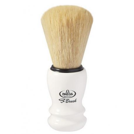 Pędzel do golenia Omega S10108 PROF, syntetyk S-Brush, biały