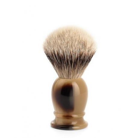 Pędzel do golenia Muhle CLASSIC 099K252, borsuk SILVERTIP, imitacja rogu
