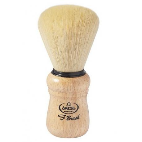 Pędzel do golenia Omega S10005, syntetyk S-Brush, buk