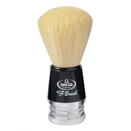 Pędzel do golenia Omega S10019, syntetyk S-Brush, czarny