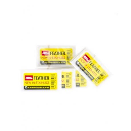 Żyletki FEATHER NEW Hi-Stainless (żółte) 50 sztuk