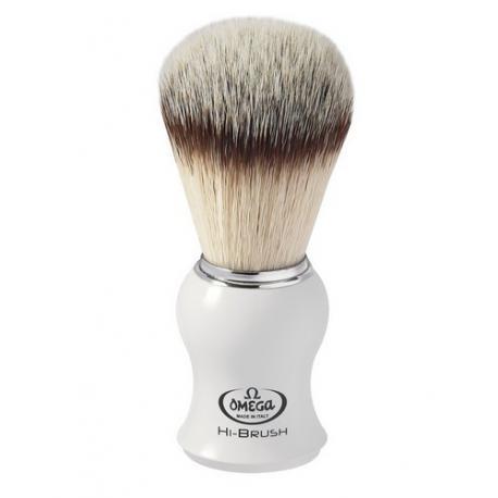 Pędzel do golenia Omega 0146745, syntetyk HI-BRUSH, biały