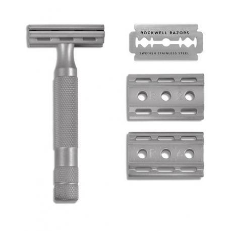 Maszynka do golenia na żyletki Rockwell 6S (stal nierdzewna)