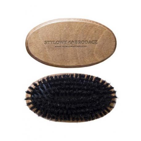 Stylowy Brodacz - szczotka (kartacz) do brody włosie dzika