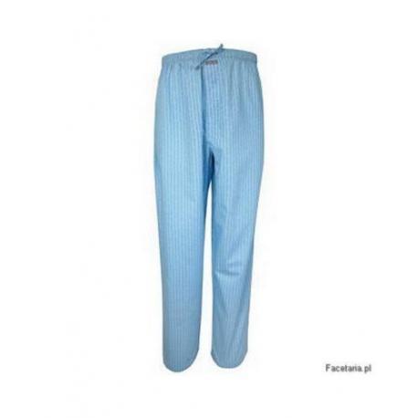 Spodnie piżamowe Calvin Klein niebieskie z nadrukiem CK