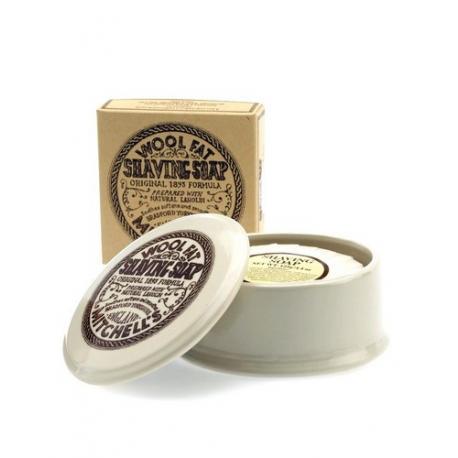 Mitchells Wool Fat mydło do golenia w ceramicznym tyglu 125g