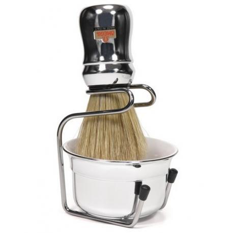 Zestaw do golenia Omega 8318S, 3 cz, srebrny, profesionalny