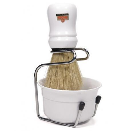 Zestaw do golenia Omega 4918W, 3 cz, biały, profesionalny