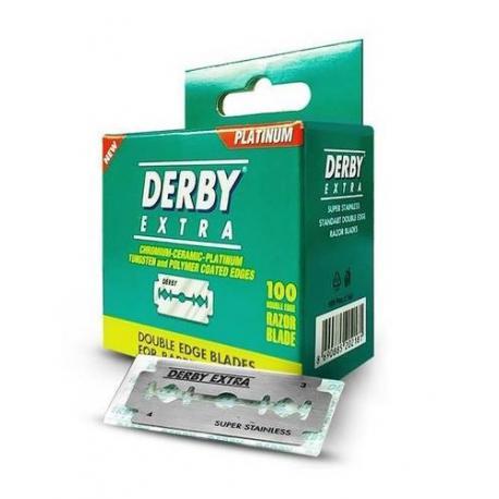 Żyletki Derby Extra opakowanie barberskie 100 sztuk