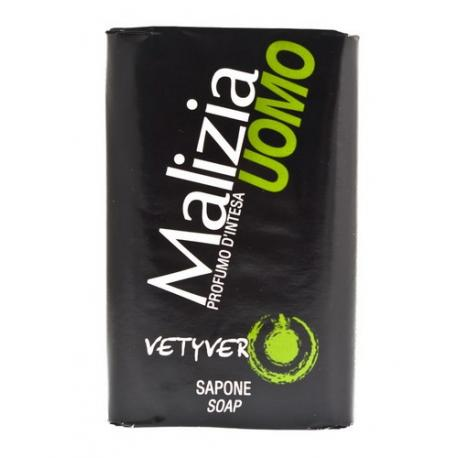Malizia Uomo Vetyver - męskie mydło toaletowe 100g