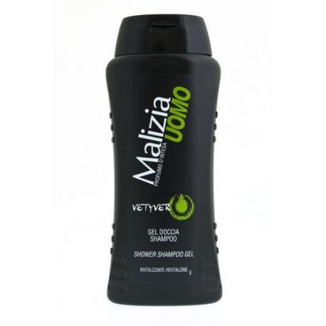Malizia Uomo Vetyver - męski żel pod prysznic i szampon 2w1 250ml