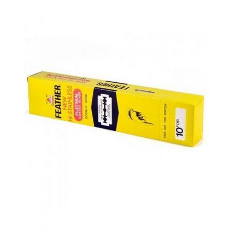 Żyletki FEATHER NEW Hi-Stainless (żółte) 200 sztuk