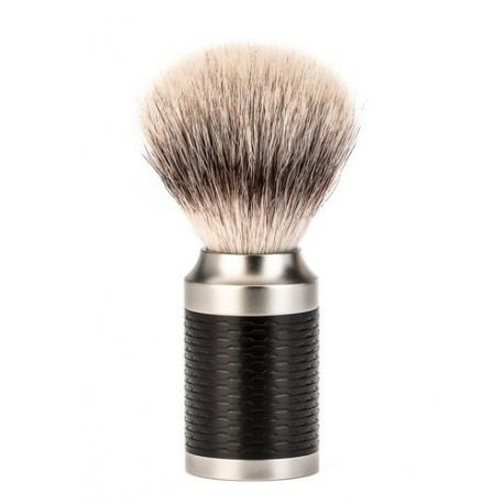 Pędzel do golenia Muhle ROCCA 31M96, syntetyk SilverTip Fibres, stal nierdzewna