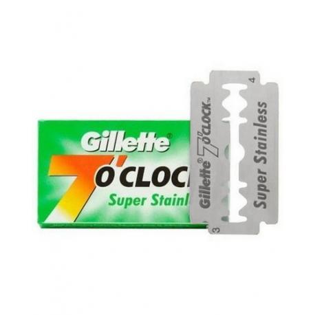 Żyletki Gillette 7 o`clock Super Stainless (zielone) 5 sztuk