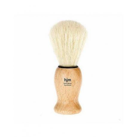 Pędzel do golenia HJM 11H16, naturalna szczecina, uchwyt drewno
