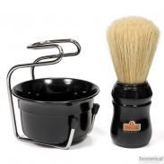 Zestaw do golenia Omega 4918B, 3 cz, czarny, profesionalny