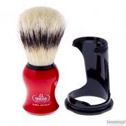 Pędzel do golenia Omega 80265RE, naturalna szczecina, czerwony