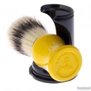 Pędzel do golenia Omega 80265YE, naturalna szczecina, żółty