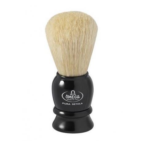 Pędzel do golenia Omega 13564, naturalna szczecina, czarny