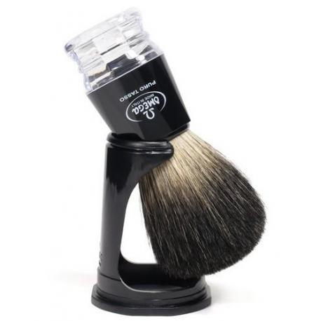 Pędzel do golenia Omega 63181, borsuk PURE, czarny