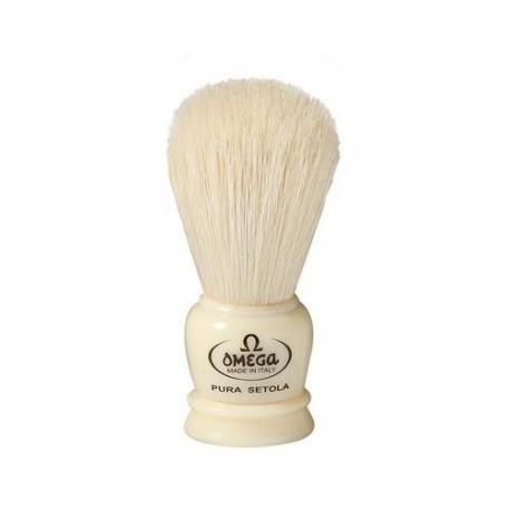 Mini pędzel do golenia Omega 50068CR, szczecina, kremowy