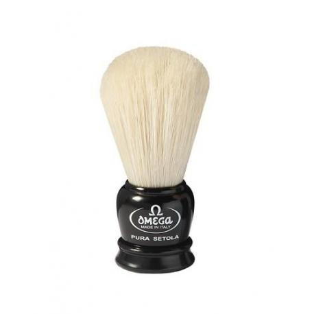 Mini pędzel do golenia Omega 50068BL, szczecina, czarny