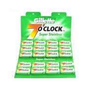 Żyletki Gillette 7 o`clock Super Stainless (zielone) 100 sztuk