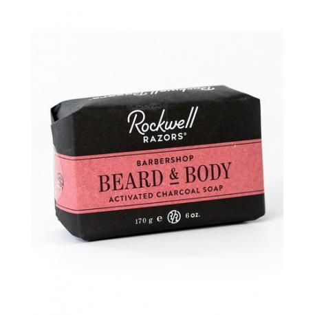 Rockwell Barbershop mydło do brody i ciała z węglem drzewnym 170g