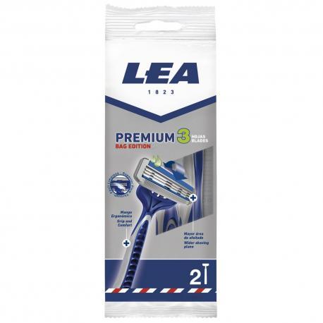 LEA PREMIUM 3 jednorazowe maszynki 3 ostrza 2szt