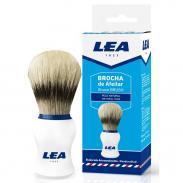 Pędzel do golenia LEA, naturalna szczecina, biały