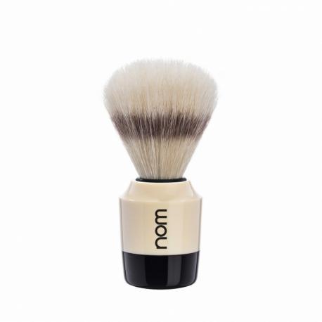 Pędzel do golenia nom MARTEN 41CR, naturalna szczecina, kremowo-czarny