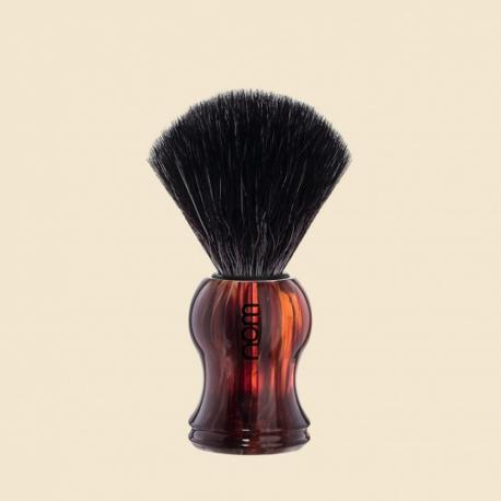 Pędzel do golenia nom GUSTAV 21HA, syntetyk BLACK FIBRE, uchwyt brązowy